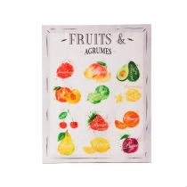 "Toile Imprimée ""Kitchen Fruits"" 38x48cm"