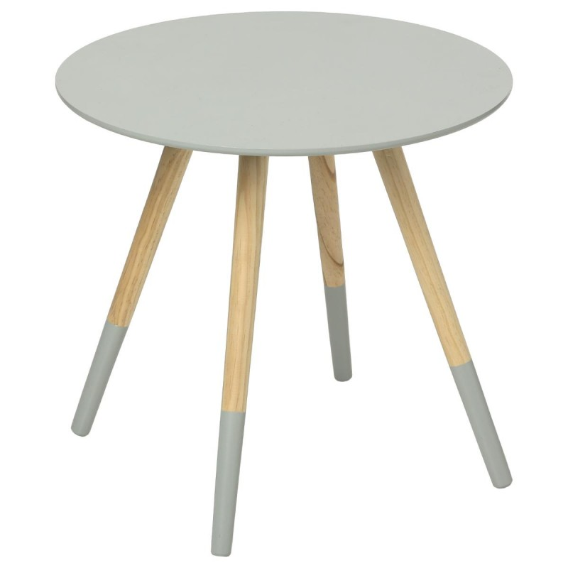 Table d 39 appoint design mileo 48cm gris - Table d appoint design ...