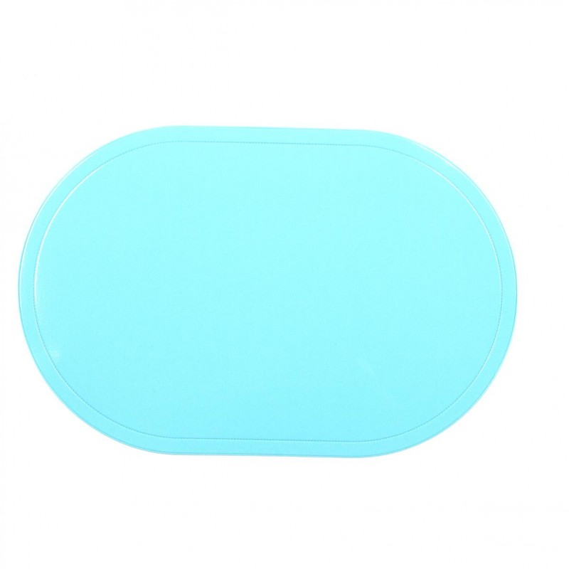 Set de table ovale 44x29cm bleu - Set de table ovale ...