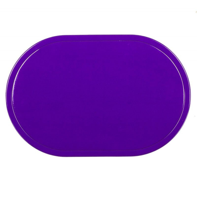 Set de table ovale 44x29cm violet for Set de table violet