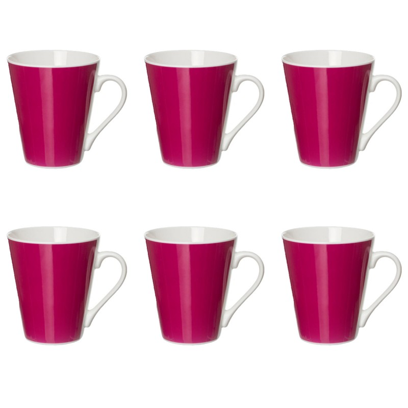lot de 6 mugs coniques uni fuchsia. Black Bedroom Furniture Sets. Home Design Ideas