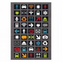 "Tapis Arte Espina ""Kids Connect"" Noir"