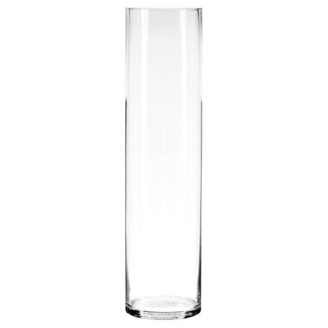 Vase Cylindrique 60cm Transparent