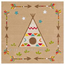 "Tapis Arte Espina ""Kids Indian"" Beige"