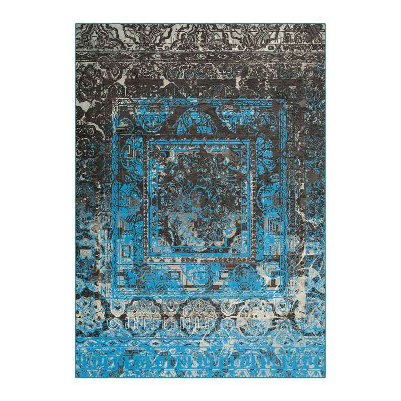 tapis arte espina antigua bleu gris. Black Bedroom Furniture Sets. Home Design Ideas