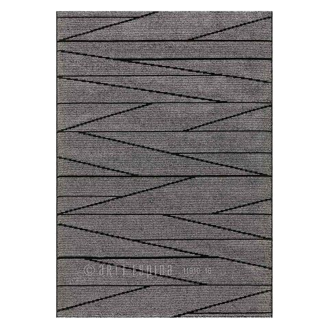 "Tapis Arte Espina ""Optical Art"" Gris & Noir"