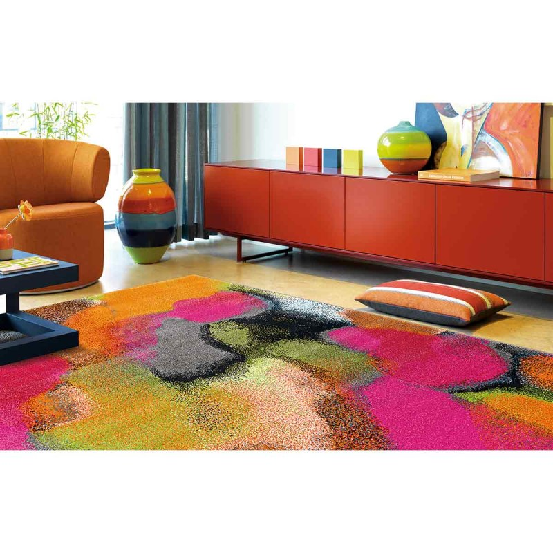 tapis arte espina clash multicolore. Black Bedroom Furniture Sets. Home Design Ideas