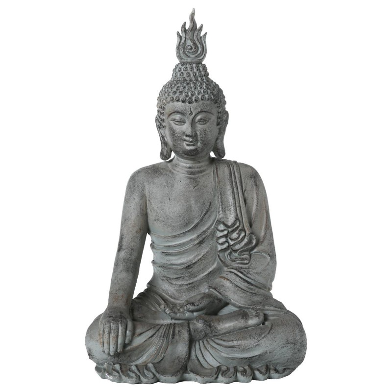 Statue d co bouddha assis 106cm gris for Decoration jardin bouddha