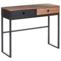 "Console 2 Tiroirs ""Walnut"" Noyer"