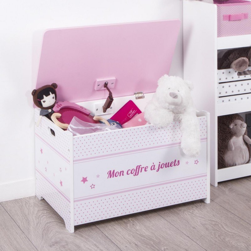coffre jouets enfant rose. Black Bedroom Furniture Sets. Home Design Ideas