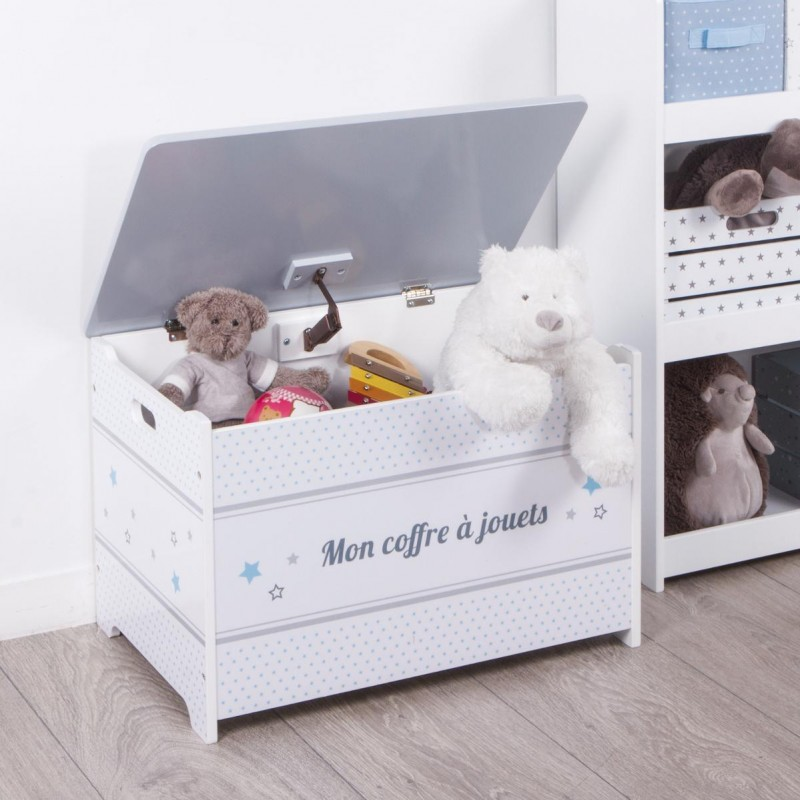 coffre jouets enfant gris. Black Bedroom Furniture Sets. Home Design Ideas