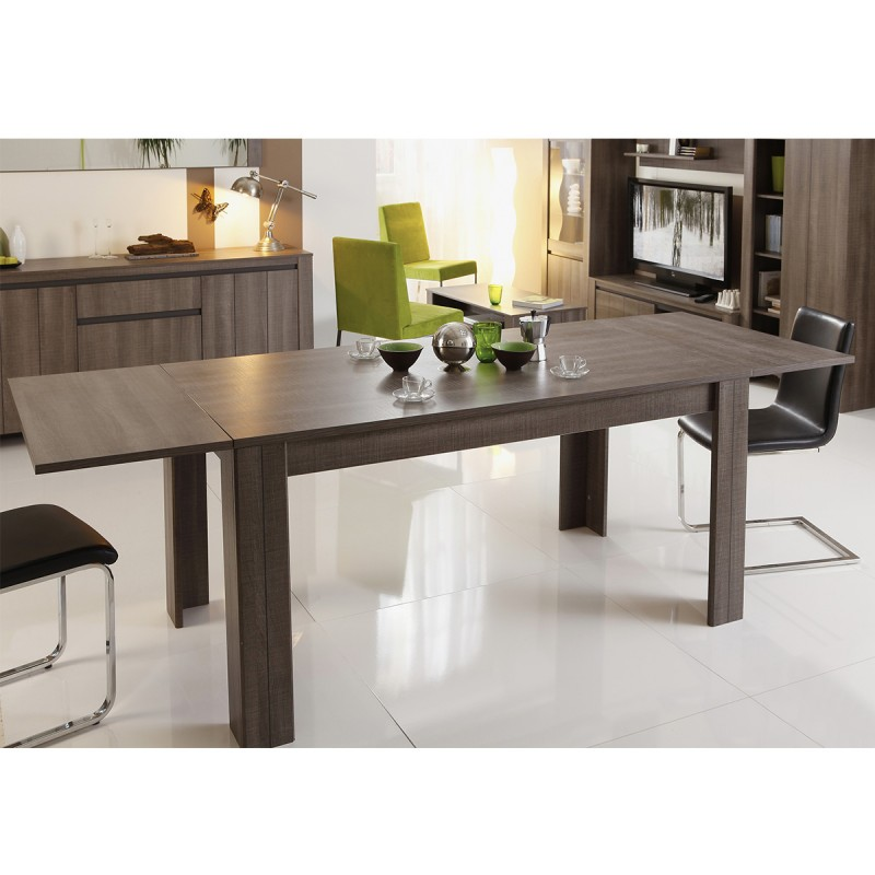 table de salle manger rectangulaire lois 160cm r glisse. Black Bedroom Furniture Sets. Home Design Ideas