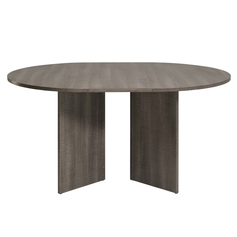 table de salle manger ronde lois 109cm marron. Black Bedroom Furniture Sets. Home Design Ideas