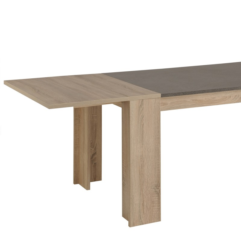 Allonge de table tim o 90cm ch ne brut for Table en chene brut