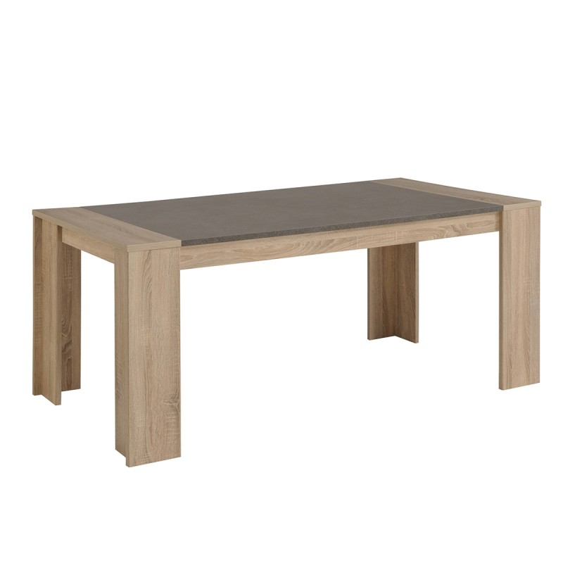 Table de salle manger tim o 177cm ch ne b ton for Table a manger beton