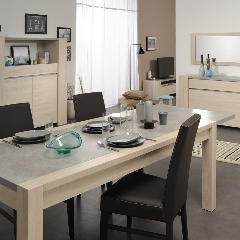 table de salle manger stark 180cm ch ne b ton. Black Bedroom Furniture Sets. Home Design Ideas