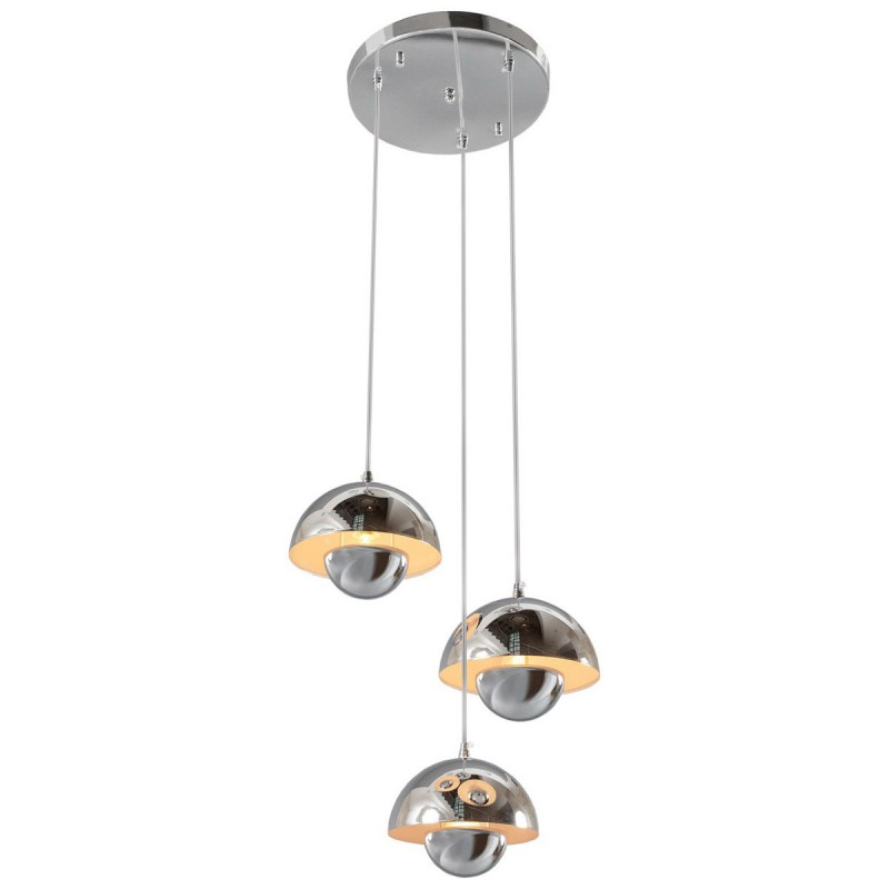 lampe suspension 3 boules m tal costus argent. Black Bedroom Furniture Sets. Home Design Ideas