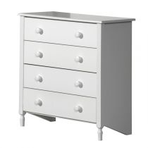 "Commode 4 Tiroirs ""Florence"" 83cm Blanc"