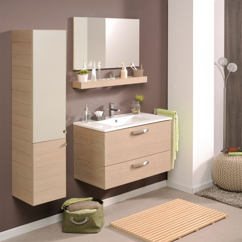 colonne de salle de bain calvi beige. Black Bedroom Furniture Sets. Home Design Ideas