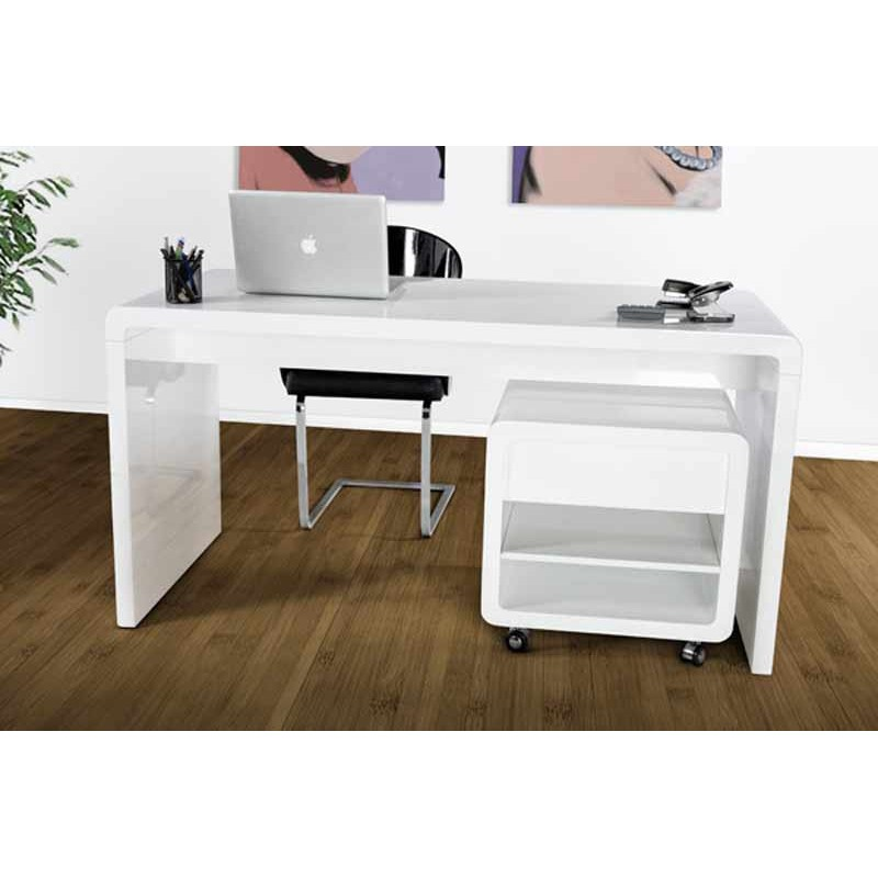 bureau light blanc paris. Black Bedroom Furniture Sets. Home Design Ideas