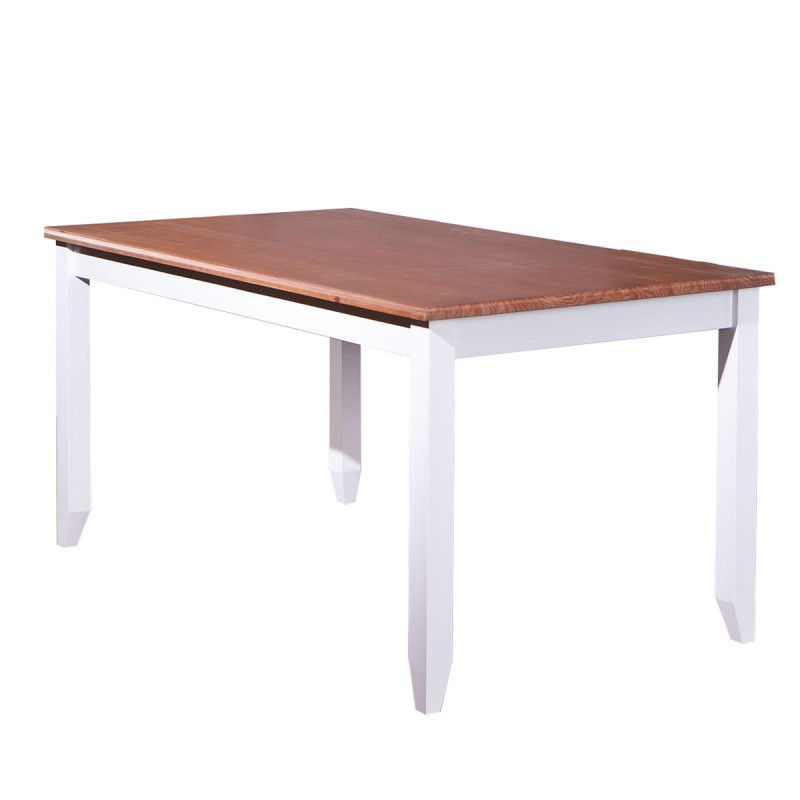 Table de salle manger takao 160cm h tre blanc for Table de salle a manger solde