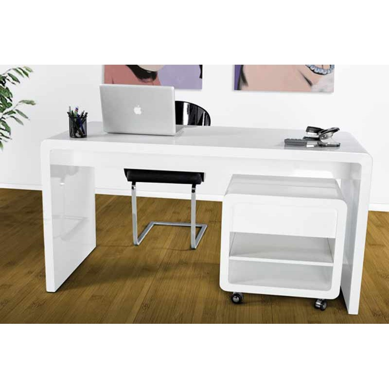 caisson de bureau light blanc. Black Bedroom Furniture Sets. Home Design Ideas