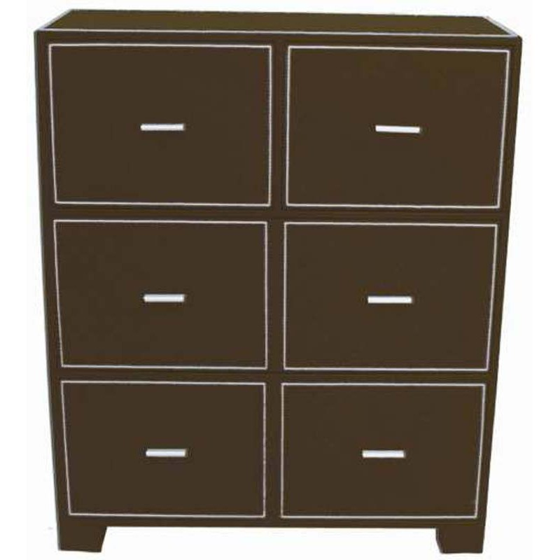 meuble commode 4 tiroirs en simili cuir. Black Bedroom Furniture Sets. Home Design Ideas