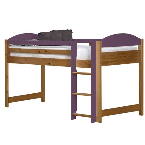 lit mezzanine mi haut maximus 90x190cm naturel lilas. Black Bedroom Furniture Sets. Home Design Ideas