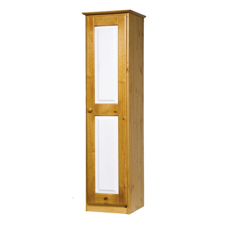 armoire 1 porte verona naturel blanc. Black Bedroom Furniture Sets. Home Design Ideas