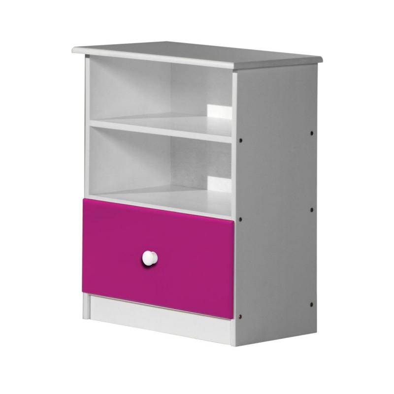 placard enfant gela 74cm blanc fuchsia. Black Bedroom Furniture Sets. Home Design Ideas
