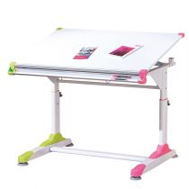 "Bureau Enfant Inclinable ""Duo"" 100cm Rose & Vert"
