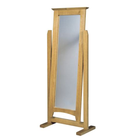 Miroir chevalet verona 151cm naturel for Miroir chevalet