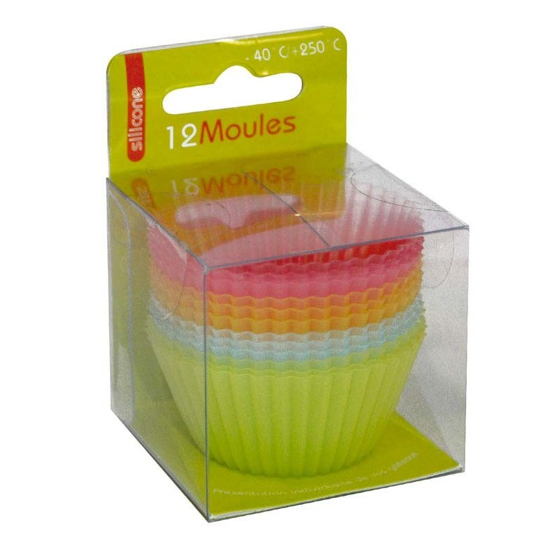 moule muffin 5cm silicone x12. Black Bedroom Furniture Sets. Home Design Ideas