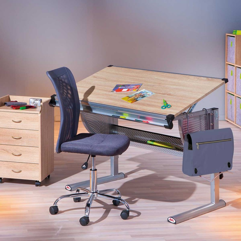 bureau enfant pupitre college 115cm ch ne sonoma. Black Bedroom Furniture Sets. Home Design Ideas