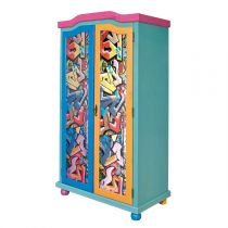 "Armoire 2 Portes Bois ""Kids Graffiti"" 200cm Multicolore"