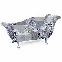 "Canapé Design 2 Places ""Claudine"" 207cm Gris"