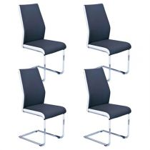 "Lot de 4 Chaises Design ""Brant"" Noir"