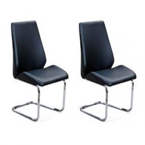 "Lot de 2 Chaises Design ""April"" Noir"