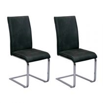 "Lot de 2 Chaises Design ""Sirpa"" Noir"