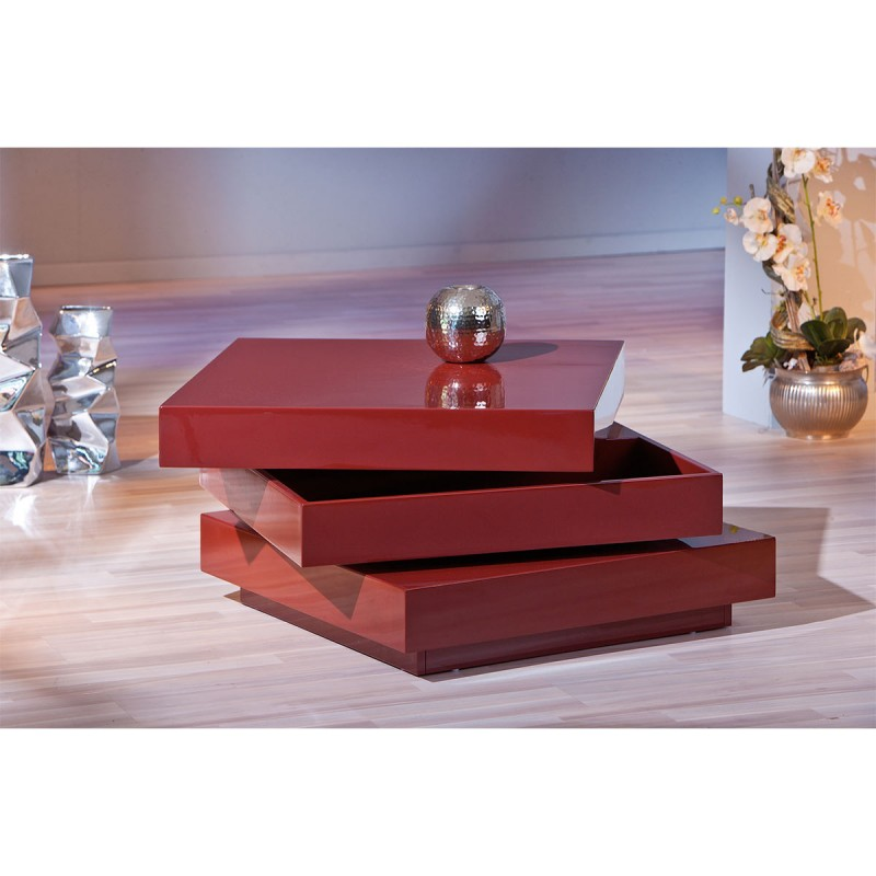 Table basse design steam rouge for Table basse rouge