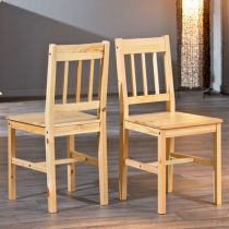 "Lot de 2 Chaises Design ""Jouko"" Naturel"