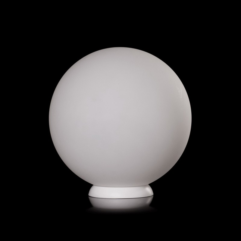 lampe poser boule sirius 35cm blanc. Black Bedroom Furniture Sets. Home Design Ideas