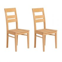 "Lot de 2 Chaises ""Dune"" Naturel"
