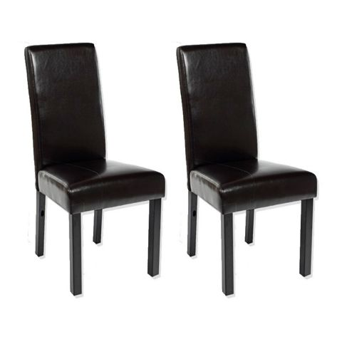 "Lot de 2 Chaises ""Havane"" Marron"