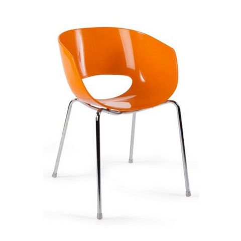 Chaise design Glossy Orange