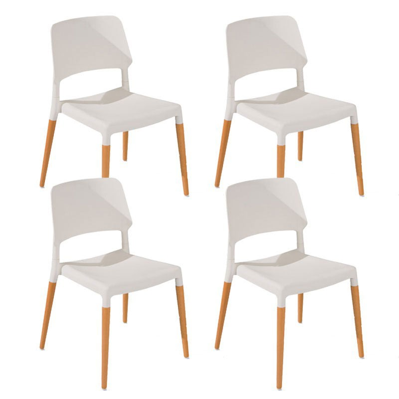 Lot de 4 chaises deli blanc for Lot 4 chaises