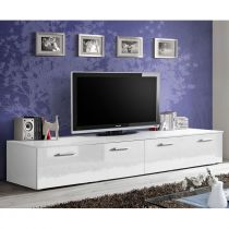 "Meuble TV Design ""Duo"" 200cm Blanc"