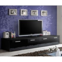 "Meuble TV Design ""Duo"" 200cm Noir"