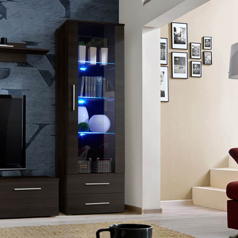 ensemble meuble tv biblioth que galino iii coffee weng. Black Bedroom Furniture Sets. Home Design Ideas