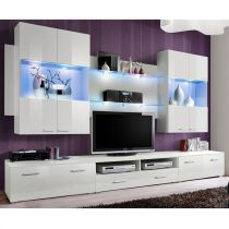 "Meuble TV Mural Design ""Space"" 300cm Blanc"